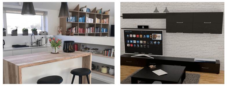 Egyedi konyha és nappali bútor