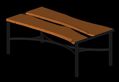 Nagyméretû tömörfa asztalok